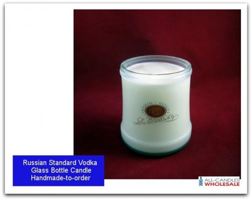 Personalised-Russian Standard Vodka Bottle Candle-featured