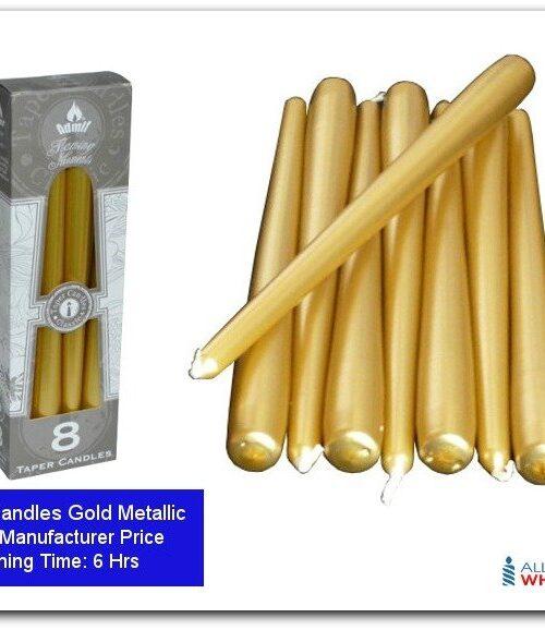 Dinner Candles-featured-Gold Mattalic