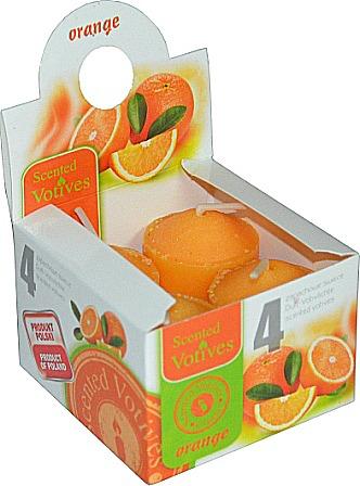 Scented Votive Candles-Orange