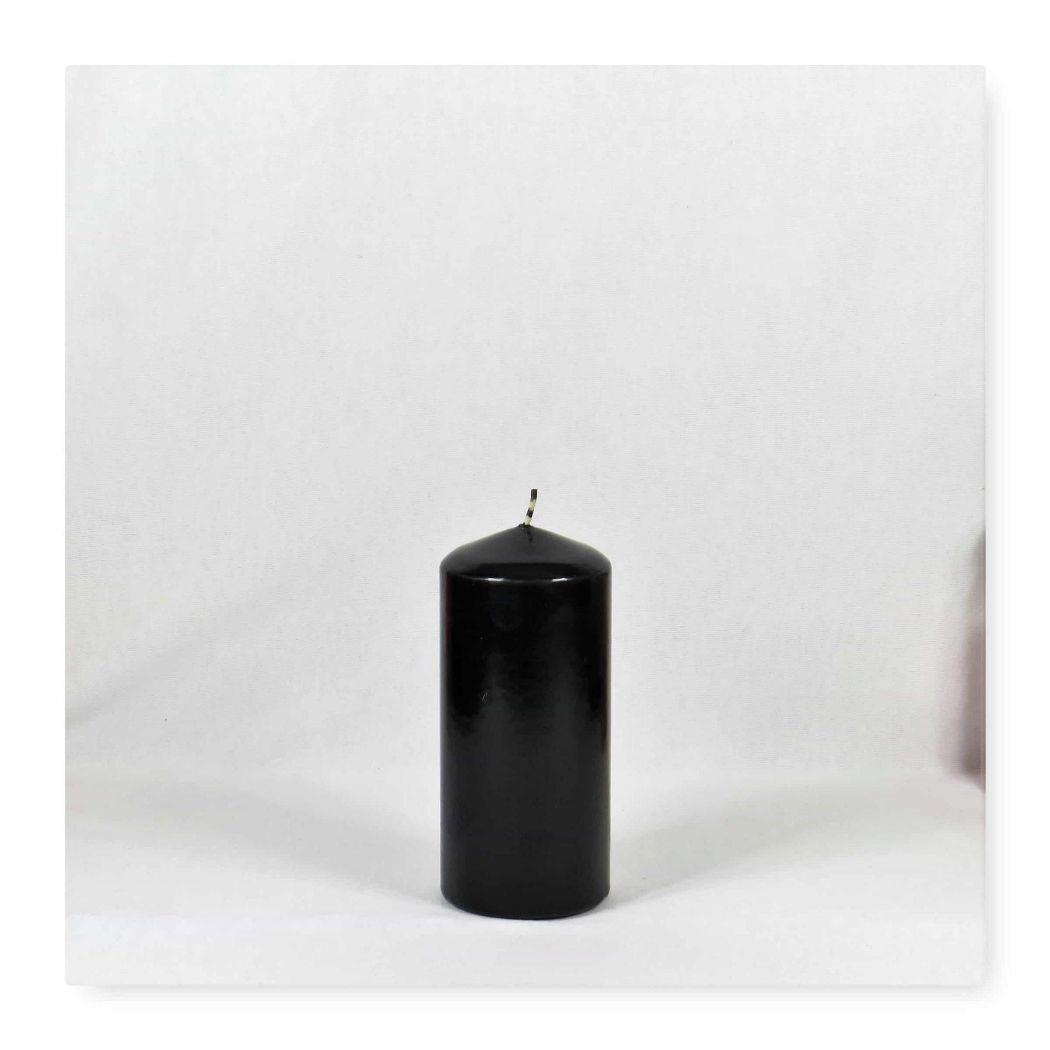 black candles, black pillar candles, black and white candles, black pillar candles bulk, wholesale black candles, black candles bulk