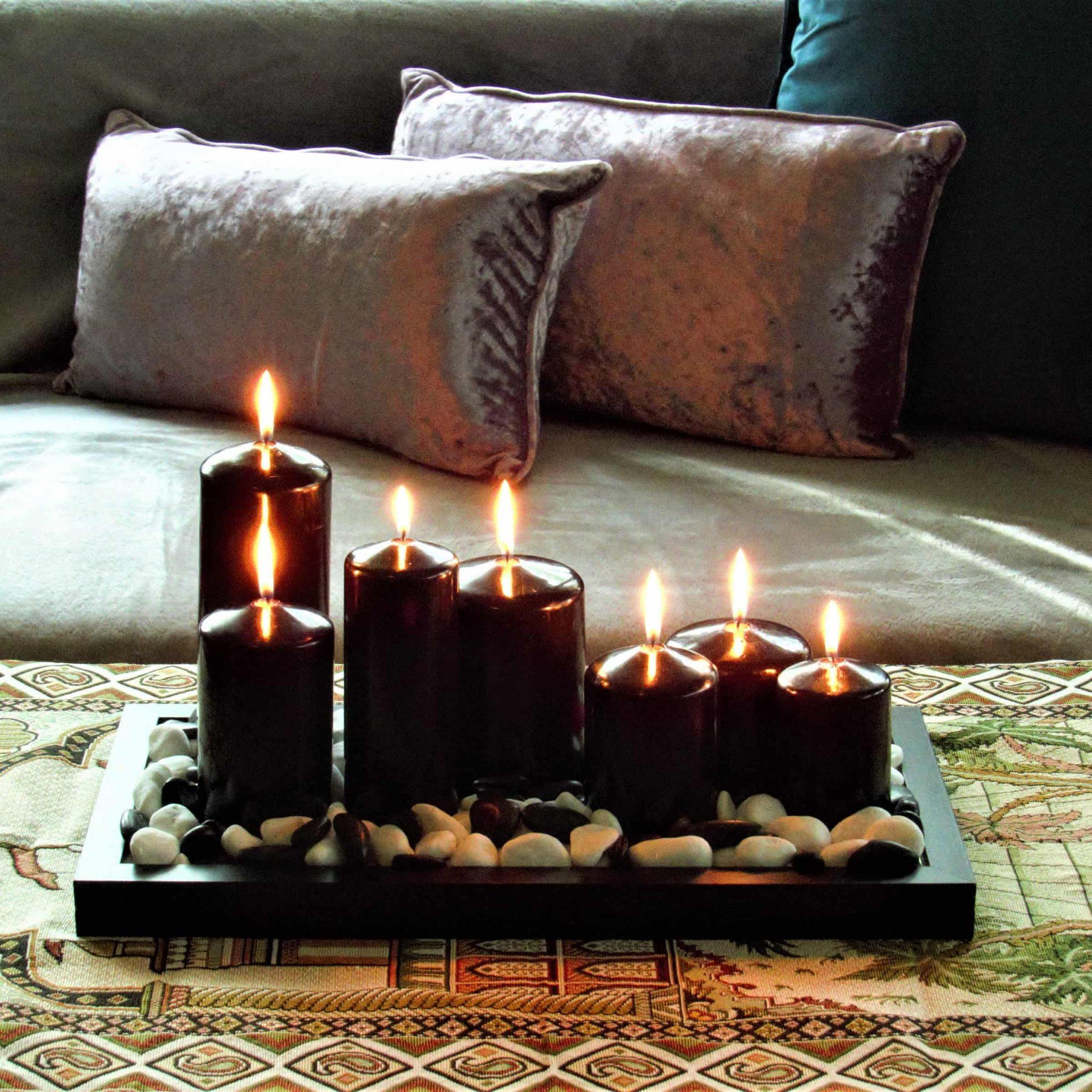 black pillar candles, black candles, black pillar candles bulk, wholesale black candles, black candles bulk,