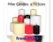 Pillar candles, church candles