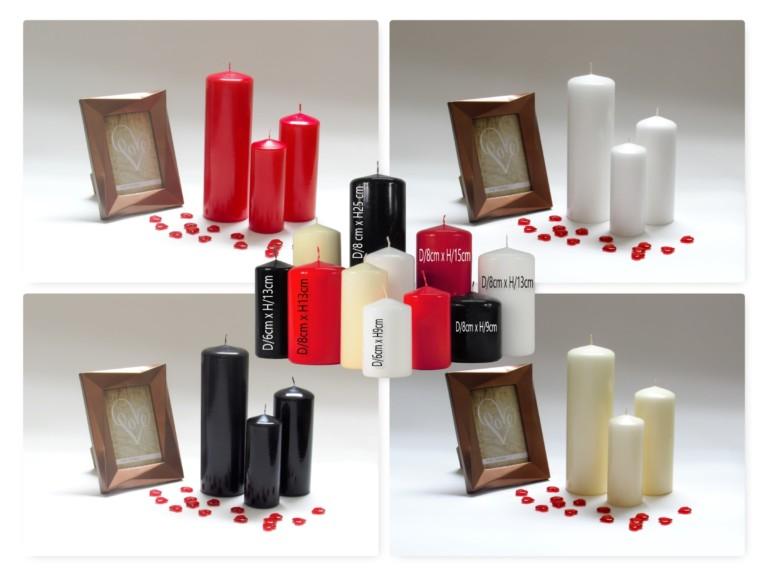 pillar candles, large candles, church candles, black candles, candles uk,