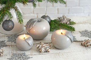 Christmas candles, fruit shaped candles