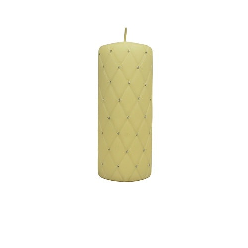 Hand-decorated Pillar Candle Ivory