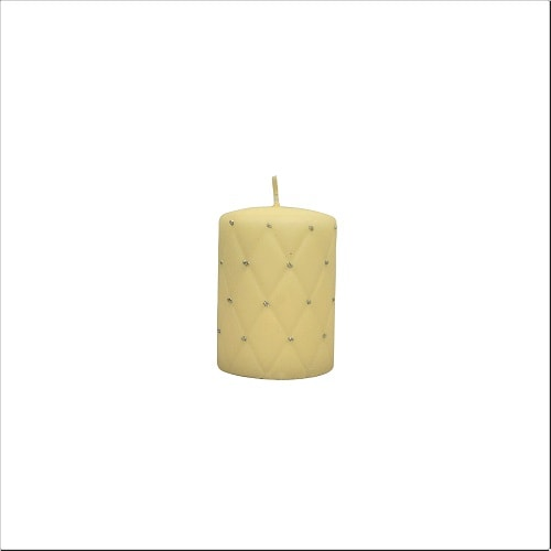 Hand-decorated Pillar Candle D/7 x H/10 cm