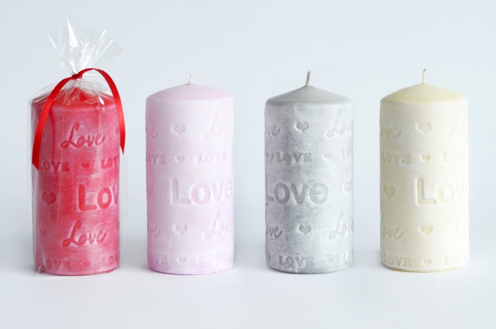 Fall in Love Pillar Candles