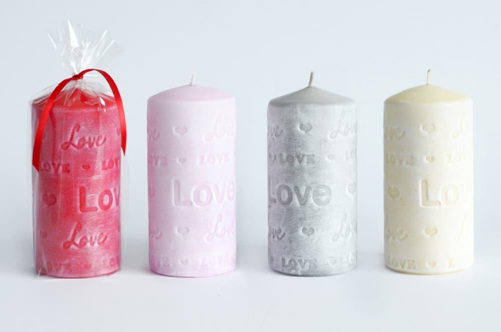 Fall in Love Pillar Candles