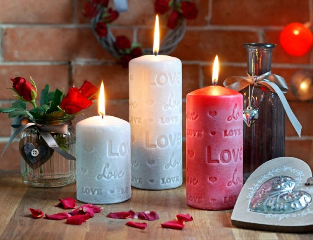 Fall in Love Pillar Candles Collection