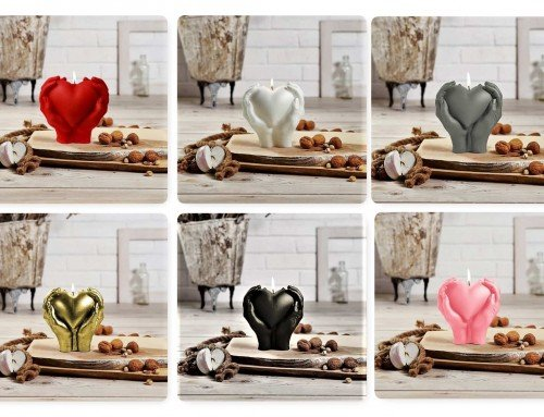 Decorative Candles – Heart in hands