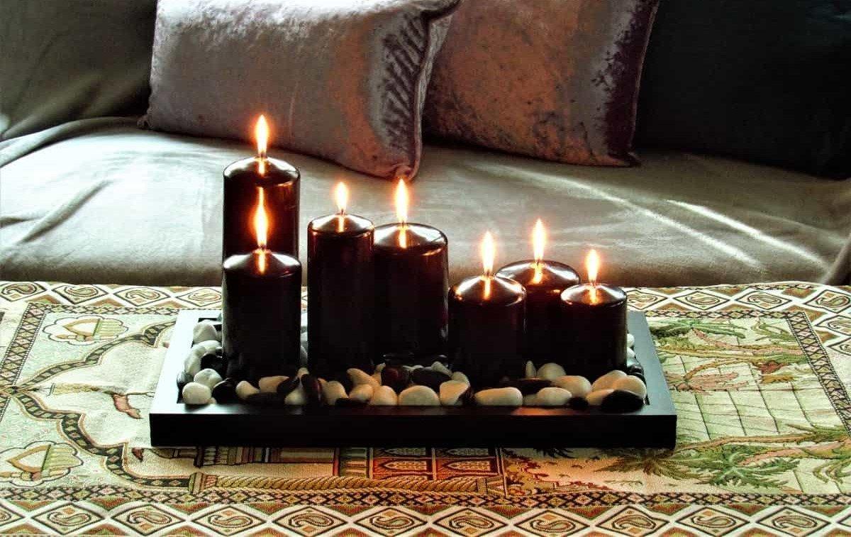 black candles, black pillar candles, candles uk,