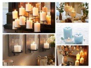 candle decoration, black candles, black pillar candles, black and white candles,