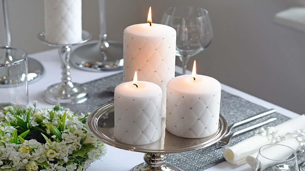 wedding candles, centerpieces,