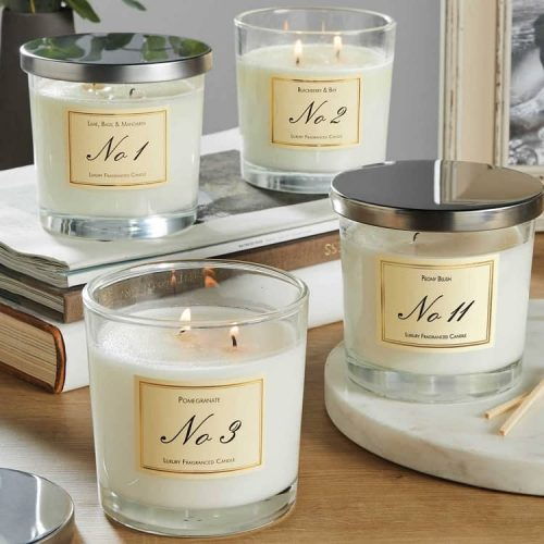 scented candles, candle in glass, luxury candles,
