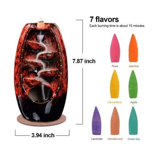backflow incense burner,backflow incense cones,
