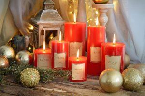 Christmas candles,